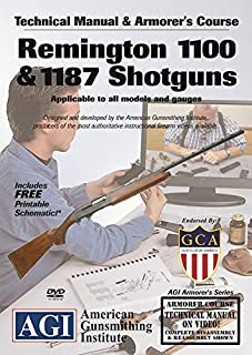 American Gunsmithing Institute Armorer's Course Video on DVD for Remington 1100 & 1187 Shotguns - Technical Instructions for Disassembly, Cleaning, Reassembly and More