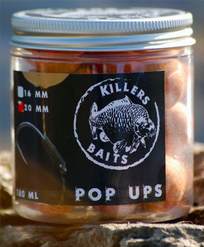 Carp Killers Pop Up Boilies French Water 100g (16mm / 20mm), Karpfenangeln, Karpfenboilies, Angeln auf Karpfen, Anfüttern, Boiliemontage, Durchmesser:20mm