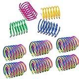 HONGECB Plástico Muelles en Espiral Colorido, 24 Piezas Juguete para Gato en Espiral, Muelle...