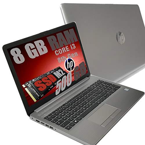 Notebook HP I3 250 G7 Silver Portatile Display HD 15.6  Cpu Intel 8Th Gen i3-8130U Fino a 3,4Ghz  Ram 8Gb DDR4  SSD M2 M.2 500GB  VGA UHD 620  Hdmi Dvd SD Card Wi-fi  Windows 10 pro + Open Office
