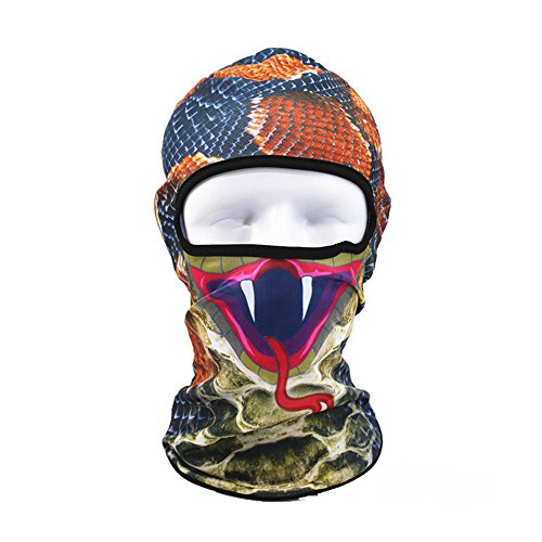 CapsA Novelty Face maskfor Men Women Face Shield for Music Festivals Dust Protection Animal Riding Face Mask for Riding Outdoors Cycling Motorcycle Head Scarf Neck Balaclava Headband