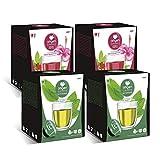 Capsulas compatibles dolce gusto ®* origen & sensations | 2 x té de marrakech | 2 x infusión frutos del bosque | total 64 cápsulas