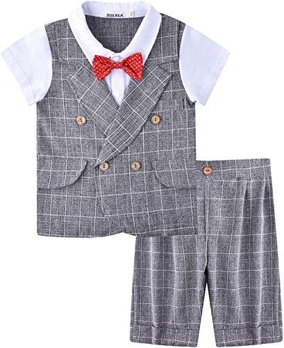 Zoerea Completo Battesimo Bambino Ragazzo Vestiti Pantaloncini Primo Compleanno Bambini Vestito Partito