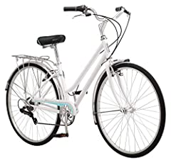 Schwinn steel retro city frame and fork offers a stylish, comfortable ride Schwinn 7 speed twist shifter with Schwinn rear derailleur provide quick gear changes. Alloy front and rear linear pull brakes ensure precise stops. Fenders protect you from s...