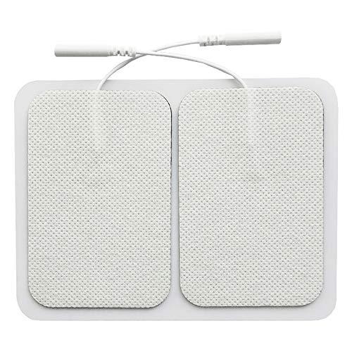 Electrodos Alto Rendimiento Larga Duración - Self Adhesive Electrodes Masaje Gel Conductor Adhesivos Gelificados, Electrodo Espalda Almohadillas Autoadhesivas Cuello Piernas (2.0mm)
