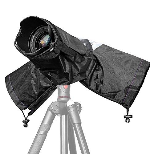 JZK Copertura parapioggia per fotocamera digitale reflex + lente totale fino a 32 cm lunghezza, cover antipioggia protettore pioggia per Canon, Nikon, Sony, Olympus, Panasonic, Pentax, Samsung, ecc