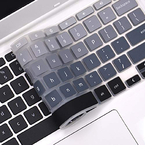 FORITO Keyboard Cover Compatible with 2019/2018 Lenovo Chromebook C330 11.6 /Lenovo Flex 11 Chromebook /Lenovo Chromebook N20 N21 N22 N23 100e 300e 500e 11.6 /Lenovo Chromebook N42 -Ombre Gray