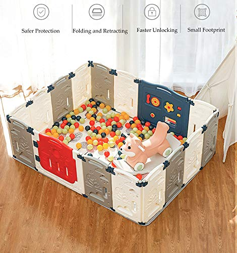 Affordable Kids Childrens Christmas Toys Gift Baby Fence Playpen Many Colorful Panels, Upgraded Safe...