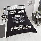 Coco Moon Baby Yoda Star Wars Mandalorian - Juego de ropa de cama para niños (cama individual o doble)