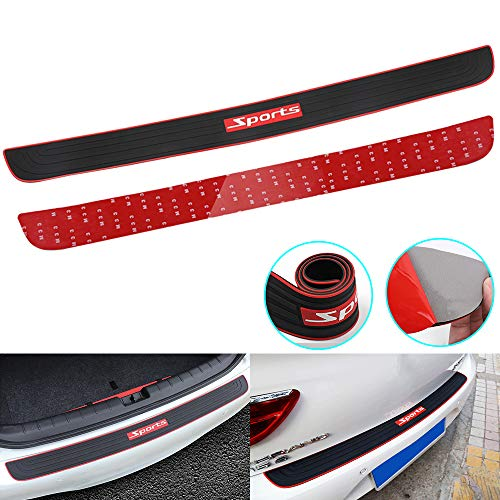 RUICA Rear Bumper Protector Guard Trunk Rubber...