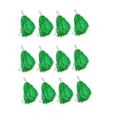 Windy City Novelties Cheerleader Pom Poms - 12 Pack (Green)