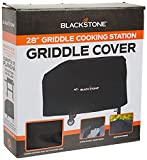 Blackstone 1529 Water, Weather Resistant Heavy Duty 600D Polyester Outdoor BBQ Grilling Cover –– Fits 28' Griddle with Shelf Attached & Tailgater, Black