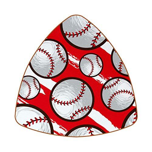 6 posavasos de copa de diamante – posavasos decorativos para tipos de tazas y tazas, diseño de pelota blanca de béisbol