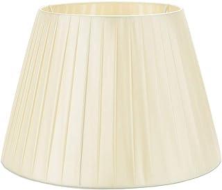 DULEE 15.7'' E27/E14 Screw Tela Pantalla de Lámpara de Pie Mesa y Lámpara de Noche,(Top) 25cm x (Altura) 28cm x (Fondo) 40cm,Beige