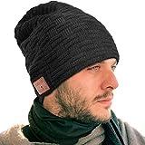 Bonnet Bluetooth EVERSEE, Meilleur Cadeau de Noël Music Beanie pour Hommes et Femmes - 5.0 Chapeau avec des écouteurs Bluetooth sans Fil et de la Musique, Chapeau Musique Bonnet sans Fil Music Cap