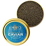 Marky's Premium Paddlefish American Black Caviar - 1 oz - Malossol Paddlefish Black Roe – GUARANTEED OVERNIGHT
