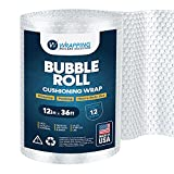 Air Bubble Cushioning Roll Wrap 12-Inches X 36-Feet Perforated Every 12-Inch For Shipping -For...
