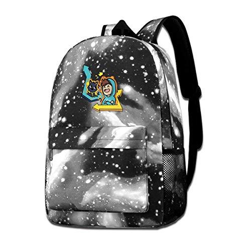 IUBBKI Denis Graffitti Backpack Starry Sky Multi-Function Bookbag Laptop Shoulder Bag for Teens Boys Girls Gray