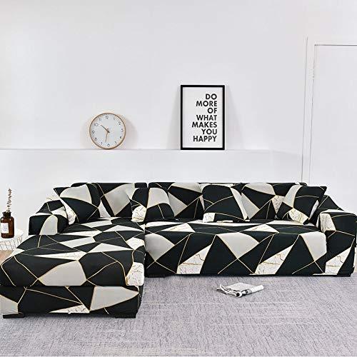 Fundas de sofá Chaise Longue para Sala de Estar Funda elástica para sofá Estiramiento en Forma de L Funda para sofá de Esquina A13 1 Plaza