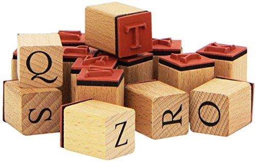 Stempel Set Alphabet inkl. Stempelkissen, 30 Teile