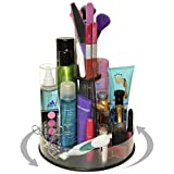 NEW ! Cosmetic Makeup Organizer that Spins. With Just A Spin Everything Is at Your Fingertips. Makes Your Life Easy and Your Countertop Organized, No More Clutter ! Includes Clear Tube Holder on top For Makeup Brushes, Etc. Proudly Made in the USA! by PPM.