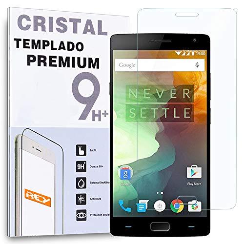REY Protector de Pantalla para OnePlus 2 One Plus Two Cristal Vidrio...