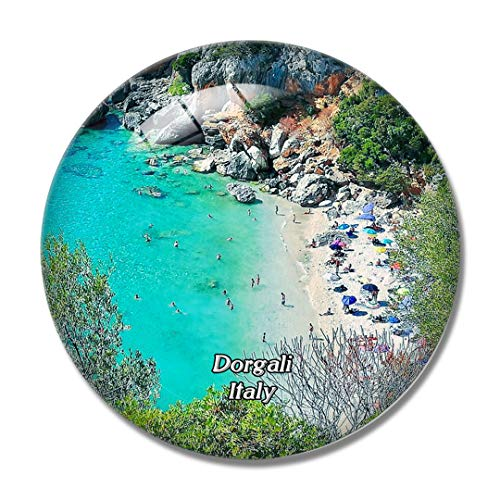 Cala Dorgali Cala Fuili Spiaggia 3D Frigorifero Cala Cala Fuili Cala Cala in Vetro Cristallo