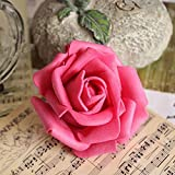 50Pcs Artificial Fake Rose Real Touch Flower Bridal Flower Decor Rosy
