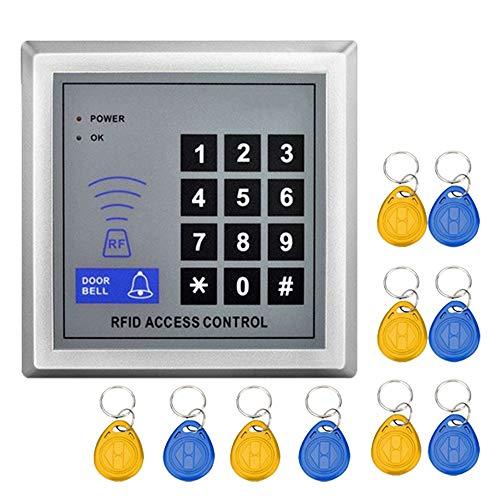 YAVIS Codeschloss Türöffner Zutrittskontrollsystem Sicherheit Tor Eintrag + 10 Schlüsselanhänger RFID Nähe Türeinstieg Standalone Access Control System für 1000 Benutzer