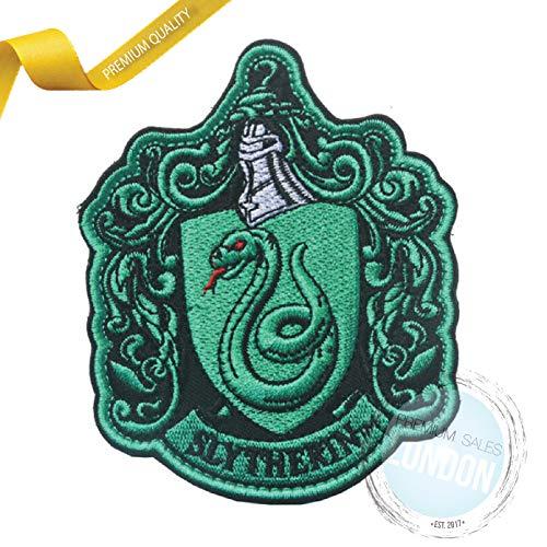 Parche bordado con escudo de Slytherin de PSL para coser o planchar, diseño de Hogwarts