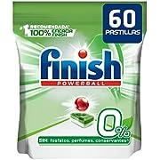 Finish Powerball 0% - Pastillas para el lavavajillas todo en 1 - formato 60 unidades