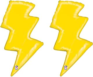 Set of 2 Yellow Lightning Bolt 36