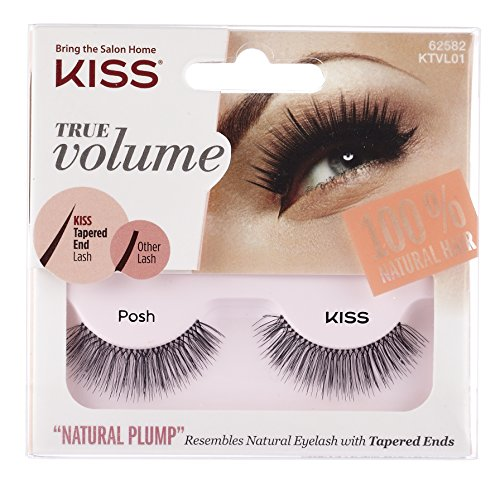 """of kiss brow kits dec 2021 theres one clear winner KISS True Volume Multi-Layered False Eyelashes with Tapered End Technology, 100% Natural Hair, Cruelty Free, Reusable, Contact Lens Friendly, """"Posh"""", 1 Pair"""