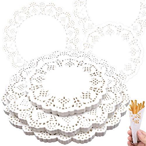 No Branded 300 StückeTortenspitze Papier, Runde Papierdeckchen Für Kuchen, Desserts, Snacks Weiße 3 Größen