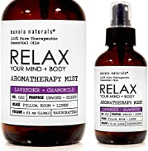 Eunoia Naturals Relax- Lavender Pillow Spray, Lavender + Chamomile Sleep Mist, Lavender Calming Essential Oil, Free 30 Minute Sleep Audio, Lavender Spray for Sleep, Lavender Relaxing Spray, 4oz Glass