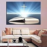 Leinwand wandkunst aus der Bibel unter dem Kreuz HD licht Bild Poster Wohnzimmer Dekoration...
