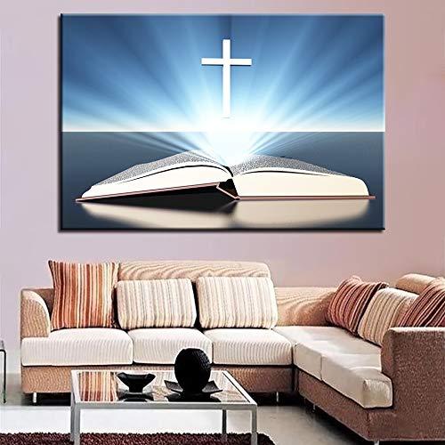 Geiqianjiumai Canvas wandkunst uit de Bijbel onder het kruis HD licht foto poster prints woonkamer decoratie frameloze schilderijen