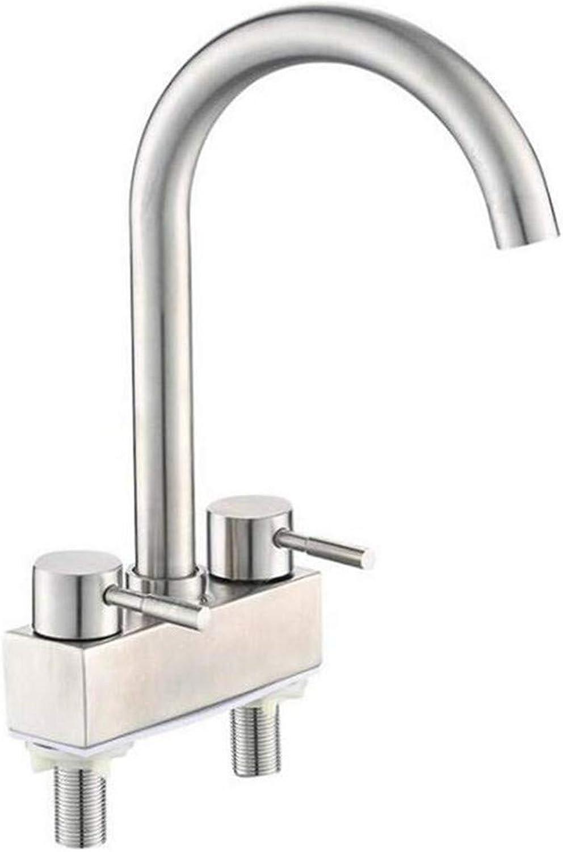 Kitchen Bath Basin Sink Bathroom Taps Taps Mixer Sink 304 Double Faucets Double Holes Faucet Cold and Hot Ctzl0595