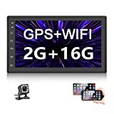 Podofo Double Din Car Radio GPS Navigation Android 2G+16G Headunit 7' HD Touch Screen Car Stereo Support Dual USB...