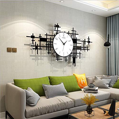 FCX-CLOCKS Große Moderne Wanduhr, 3D Acryl Silent Quarz Atmosphärischen Uhr, Kunst Dekorative Digitale Wanduhr, Ohne Tickgeräusche, Wohnzimmer, Schlafzimmer, Büro Wanddekoration