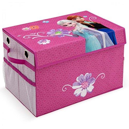 Delta Children's Products Toy Box faltbar Eisprinzessin FROZEN Spielzeugkiste für Kinder Aufbewahrungsbox Canvas mit Netz