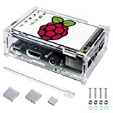 Kuman Raspberry Pi 3.5 inch Touchscreen Stift TFT Monitor LCD Display 320*480 Resolution with Protective Case + 3 x Heat Sinks+ Touch Pen for Raspberry Pi 3 Model B, Pi 2 Model B & Pi Model B SC11