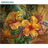 40x50cm pintura al óleo por números Flores Naturaleza imágenes por números Sobre lienzo Decoración de la habitación Sin marco Pintura digital DIY-20x20cm sin marco_642