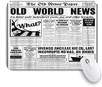 NIESIKKLAマウスパッド 白い新聞古い新聞ビンテージデザイン ゲーミング オフィス最適 高級感 おしゃれ 防水 耐久性が良い 滑り止めゴム底 ゲーミングなど適用 用ノートブックコンピュータマウスマット
