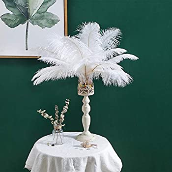 12-14 inches  30~35cm  Real Natural Ostrich Feathers Great Decorations for Home Party Wedding Centerpieces White  10