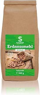 Schoefer Naturprodukte BIO Erdnussmehl - proteinreich - 100 % vegan, glutenfrei und laktosefrei - für Low-Carb Ernährung - nachhaltig - 500 g Packung