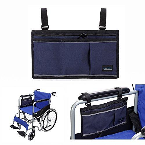 Gehhilfe Tasche Rollstuhl Elektroroller Tasche Reisetasche Bags Armlehne Seitenorganisator Mesh-Aufbewahrungshülle Für die meisten Bettgitter Roller Walker elektrischer & manueller Elektrorollstuhl