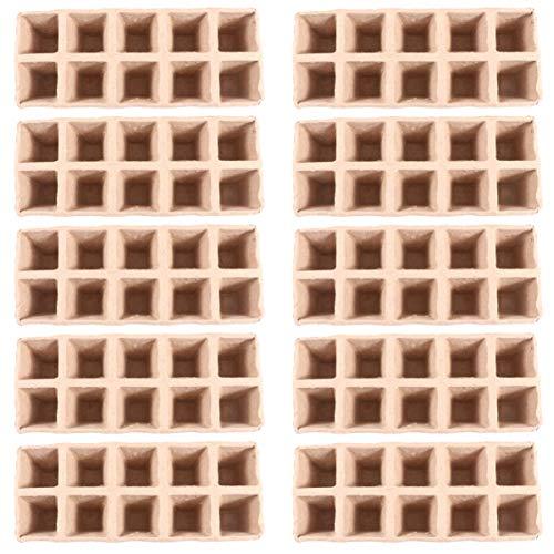 TOYANDONA 30 Stück 10 Zellen Samen Starter Torf Töpfe Kit Sämling Kräutersamen Kindergarten Papier Zellstoff Kultivierungsbecher Tablett Bio Biologisch Abbaubar