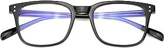Oversized Full Rimmed Blue Light Filter Glasses Non-Prescription Lens for Women and Men