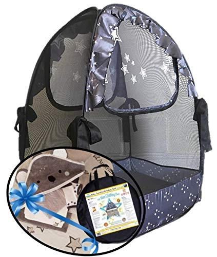 Aussie Cot Net Co - Mini Cribs Tent - Koala Gifts - Pack n Play Travel Tent to Keep Baby from Climbing Out - Portable Ready to use on Vacation - Mosquito Net - a Must When Staying with Family
